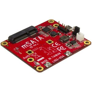 Connect an mSATA drive to your development board, to increase its data storage capacity
