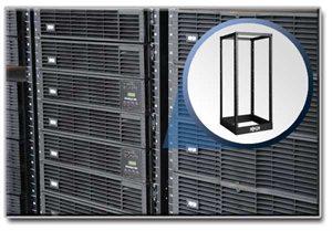 25U 4-Post Open Frame Rack Cabinet Square Holes 1000lb Capacity