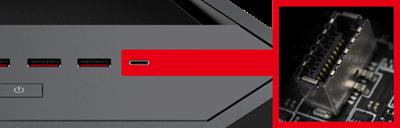 USB 3.1 Gen2 Type-C an der Vorderseite