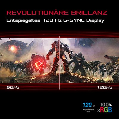 Brillantes 120 Hz G-SYNC Display