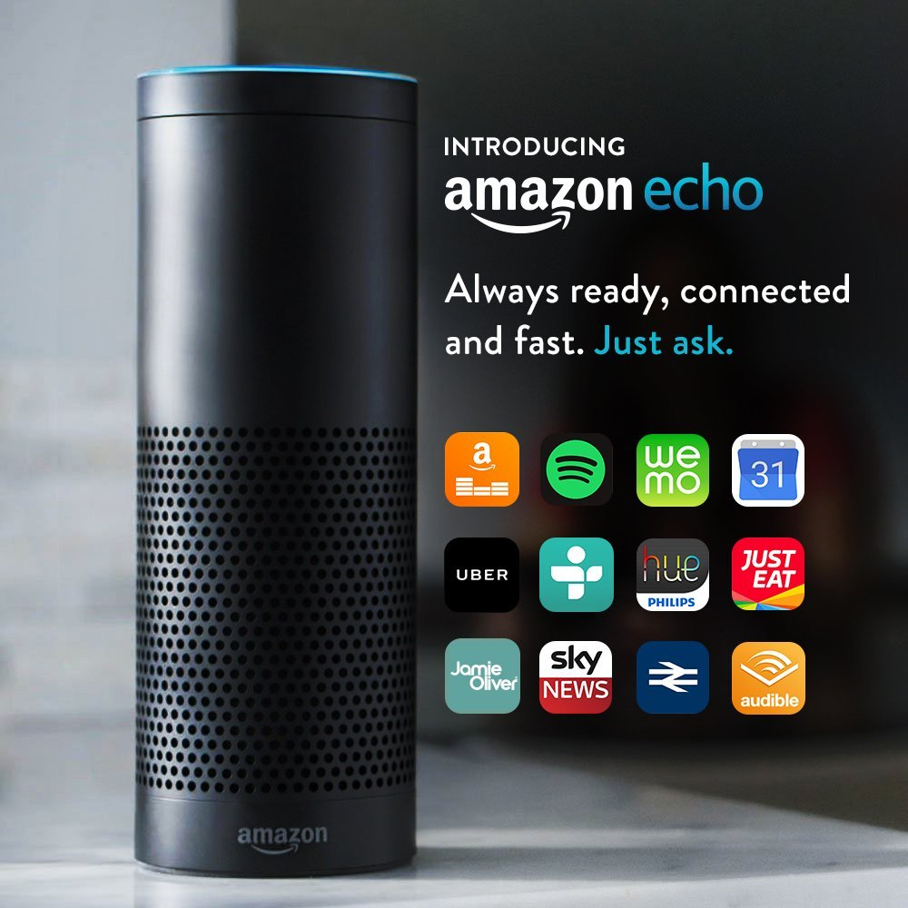 slide 1 of 5,show larger image, amazon echo - black