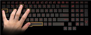 Beleuchtete Anti-Ghosting Gaming-Tastatur