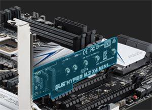 Ultra-schnelle Geschwindigkeit dank PCIe-Steckplatz-Flexibilität