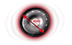 Große 60-mm-Treiber aus Neodym-Magnet
