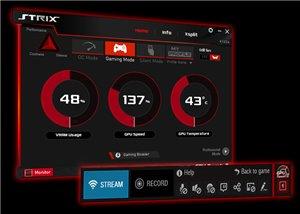 Mit seiner brandneu entwickelten, intuitiven Benutzerschnittstelle (UI) macht GPU Tweak II Overclocking einfacher sowie visueller als je zuvor und bietet trotzdem erweiterte Optionen für erfahrene Overclocker. Mit nur einem Klick maximiert die neue Gaming-Booster-Funktion die Systemleistung, indem redundante Prozesse eliminiert und alle verfügbaren Ressourcen automatisch zugeteilt werden. Mit XSplit Gamecaster kann das Gameplay mittels einer komfortablen Overlay-Anzeige im Spiel gestreamt und aufgenommen werden.