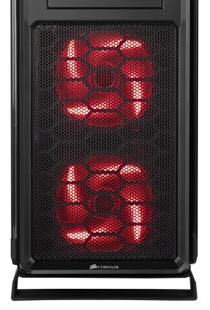 Zwei LED-beleuchtete140 mm AF140L Front-Ansauglüfter mit zweistufiger Geschwindigkeitssteuerung