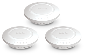Indoor Wireless Access Point, Dual-Band AC1200, 3-Pack, High-Speed, Long-Range, Ceiling-Mount, Wireless AP Offers Rapid File Transfers & Smooth Video