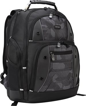 "Targus 16"" Drifter Laptop Backpack, Black/Camo (TSB834)"