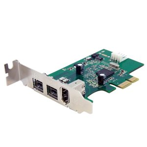 Add 2 native FireWire 800 ports to your low profile/small form factor computer through a PCI Express expansion slot