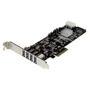 Add four USB 3.0 ports with two independent channels, LP/SATA power, and charging support to your PC through a PCI Express slot