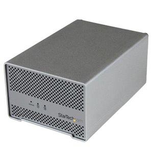 Ajoutez deux HDD SATA 2,5 pouces, jusqu'à 15 mm de hauteur, à votre Mac® ou PC via Thunderbolt, avec une solution de stockage bien ventilée qui aide vos disques à fonctionner sans chauffer