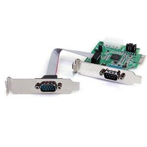Ajoutez 2 ports série RS-232 à votre ordinateur standard ou compact via une fente d'extension PCI Express