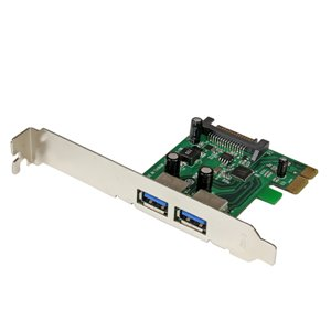 Add 2 SuperSpeed USB 3.0 ports with SATA power to your PCI Express-enabled PC