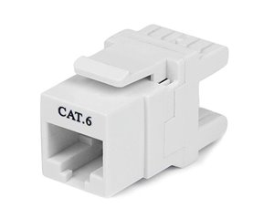 Terminate Cat6 cables at a 180° angle, for a more compact keystone jack installation