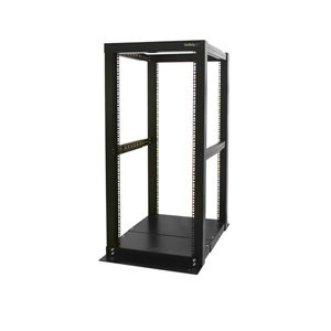 Store your servers, network and telecommunications equipment in this 25U open-frame rack