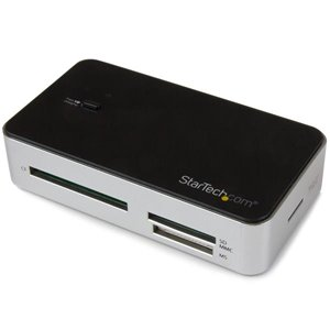 Add a compact external memory card reader to your computer through USB, and charge or connect USB devices with the built-in USB fast charge hub