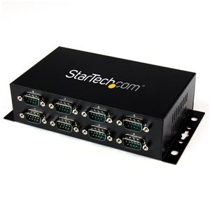 StarTech.com 8 Port USB to DB9 RS232 Serial Adapter Hub – Wall Mountable