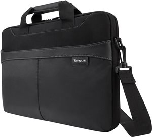 "Targus 15.6"" Business Casual Slipcase with Removable Shoulder Strap, Black (TSS898)"