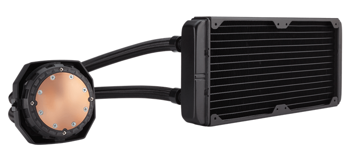 Dual SP120L PWM fans with Corsair Link monitoring and control for extreme liquid CPU cooling performance