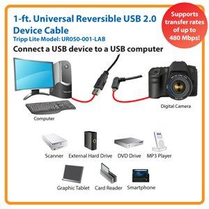 Left-Angled Universal Reversible USB 2.0 Hi-Speed Adapter for Maximum Performance
