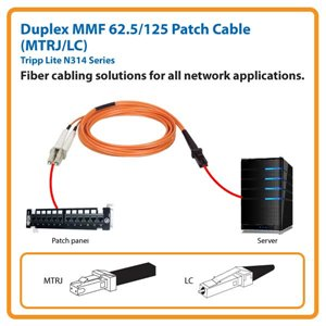 Duplex MMF 62.5/125 3 ft. Patch Cable with MTRJ/LC Connectors