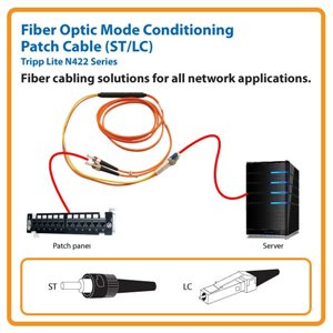 Fiber Optic Mode Conditioning 10 ft. Patch Cable with ST/LC Connectors