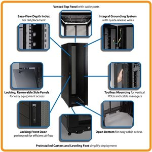 Optimized Solution for Storing Data Center Rack Equipment in a 48U Rack Enclosure