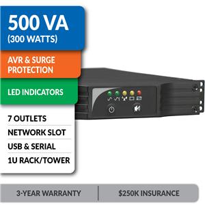 SMART500RT1U SmartPro® Line-Interactive Rack/Tower UPS with Network Slot