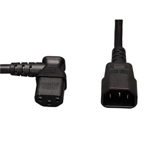 2-ft., 18 AWG, 10A Standard Computer Power Cord (Left-Angle C13 to C14)