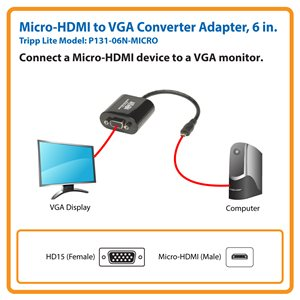 Connect Your Micro-HDMI Computer or Tablet to a VGA Display