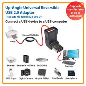 Up-Angle Universal Reversible USB 2.0 Adapter