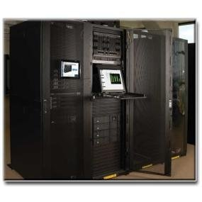 Premium 42U Rack with No Side Panels- Ideal for When Cabinets are Bayed Together