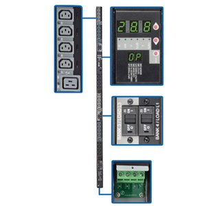 240/230/220V 3-Phase Hardwire Power Distribution with a Digital Meter and Remote Control of 30 Outlets