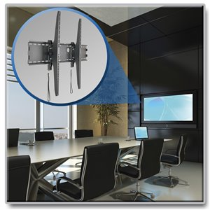 "Low-Profile, Tilt Wall Mount for 60"" to 100"" Flat-Screen Displays"