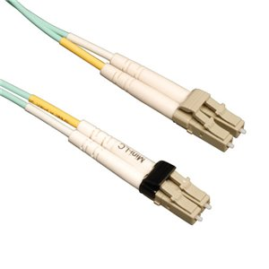 10m (33 ft.) 10Gb Duplex Multimode 50/125 OM3 LSZH Fiber Patch Cable (Mini-LC/LC), Aqua