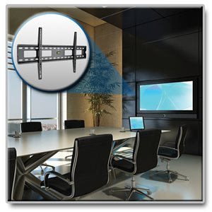 "Low-Profile, Fixed Wall-Mount for 45""- 85"" Large Digital Display Installations"