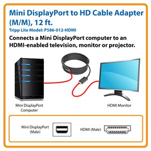 Connect Your Computer's Mini DisplayPort Output to an HDMI Monitor or TV