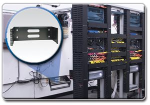 This 4U Wall Mount Patch Panel Bracket is the Ideal Alternative to a Full-Size Rack Installation