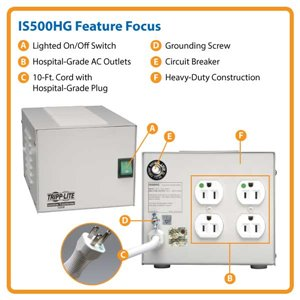 Compliant Medical Grade UL60601-1 Power Protection