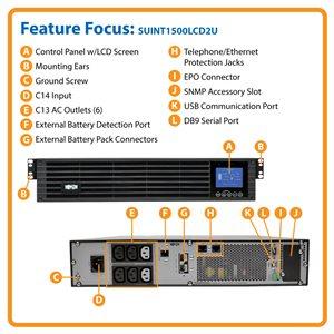 International 208/230V 1500VA Smart Rackmount UPS