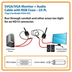 Extend Video and Audio Signals Up to 25 ft. -Guranteed to Last for Life!