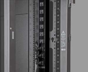 Tripplite Monitored PDUMNV20 63 in. / 160 cm 0U Vertical Rack PDU Supports 20A Peak Capacity at 120V