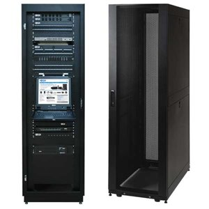 Premium 42U Rack Enclosure Server Cabinet with Doors & Sides -3000lb Capacity