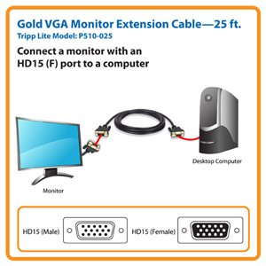 Experience Superior Video Quality with this Gold VGA Extension Cable
