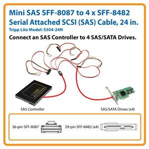 Connect an SAS Controller to 4 SAS/SATA Drives