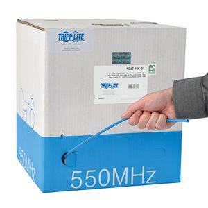 1000-ft. Cat6 Gigabit Bulk Solid-Core PVC Cable (Blue)