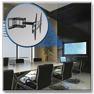 """Full-Motion Wall Mount for 37"""" to 70"""" Flat-Screen Displays"""