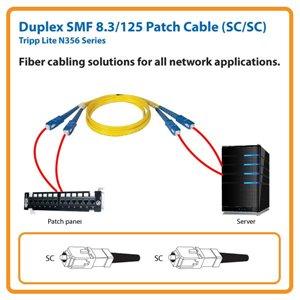 Duplex SMF 8.3/125 33 ft. Patch Cable with SC/SC Connectors