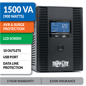SMART1500LCDT Line-Interactive Tower UPS with LCD