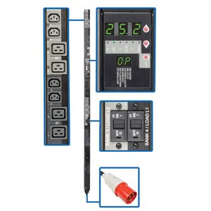 240V 3-Phase Power Distribution with a Digital Meter and Remote Control of 24 Outlets